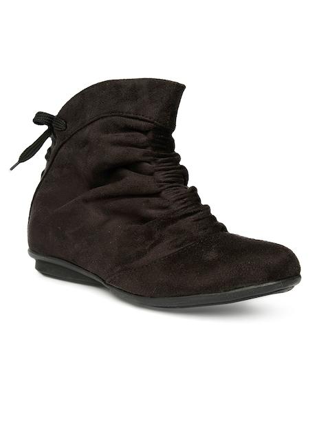 Bruno Manetti Women Black Flat Boots