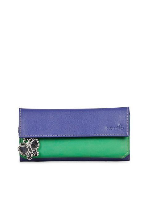 Butterflies Women Blue Wallet  available at myntra for Rs.519
