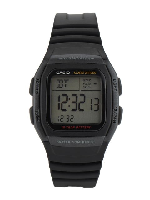 CASIO Men Black Digital Small Dial Watch D054