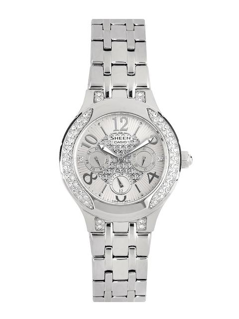 CASIO Sheen Women Silver-Toned Dial Watch SX105