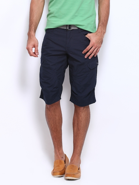 Celio Men Navy Cargo Shorts