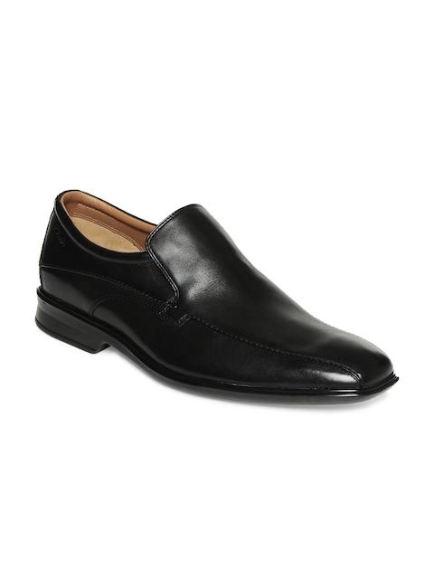 Clarks Men Black Leather Formal Shoes