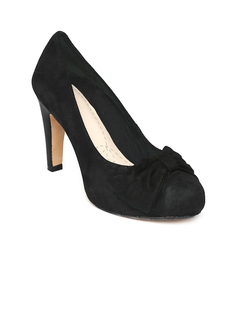 Clarks Women Black Suede Pumps