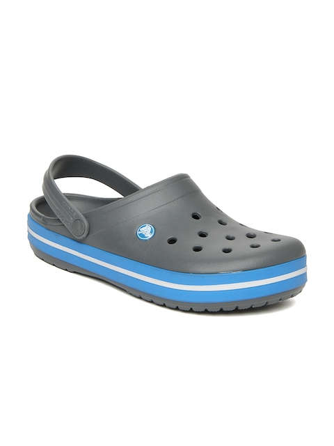 Crocs Unisex Grey Crossband Clogs