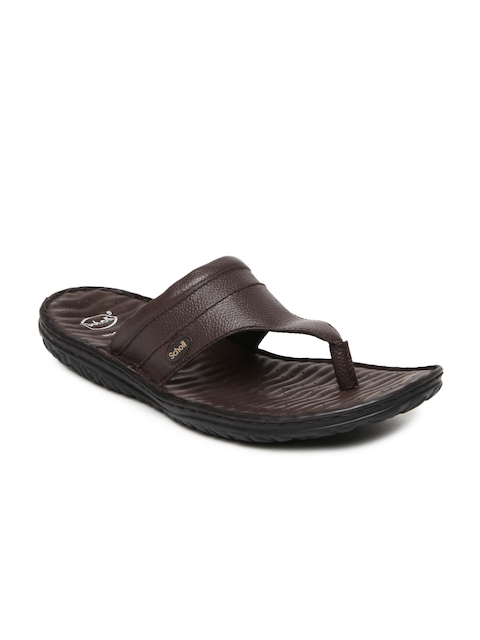 Dr. Scholl Men Brown Leather Sandals  available at myntra for Rs.1359