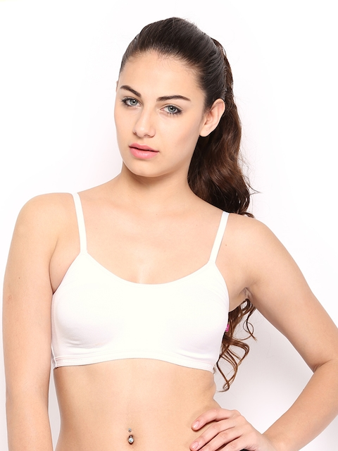 Enamor White Bra AB67  available at myntra for Rs.250