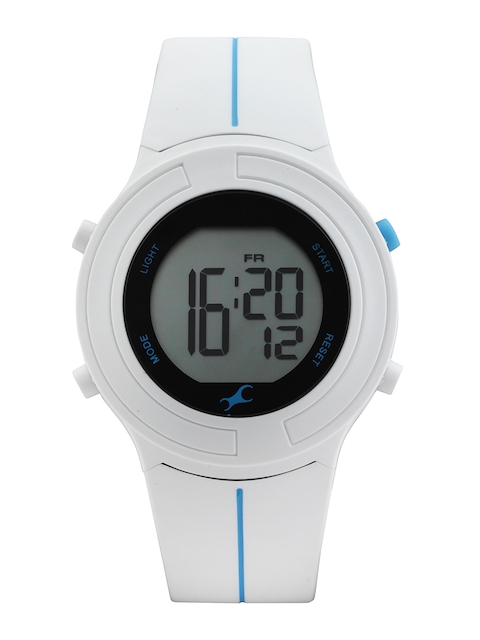 Fastrack Digitals Women White LCD Digital Watch 68002PP02J