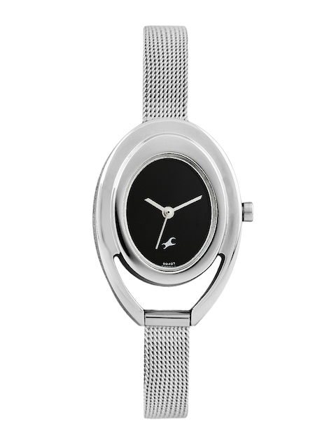 Fastrack Women Black Dial Watch 6090SM01