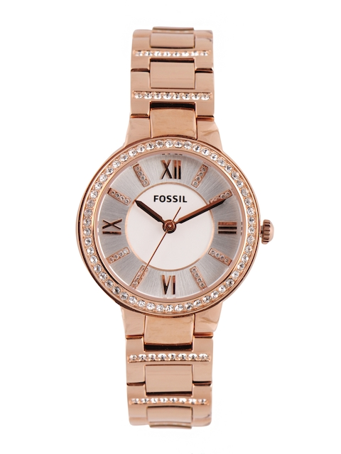Fossil Women Silver-Toned & White Dial Watch ES3284-147827