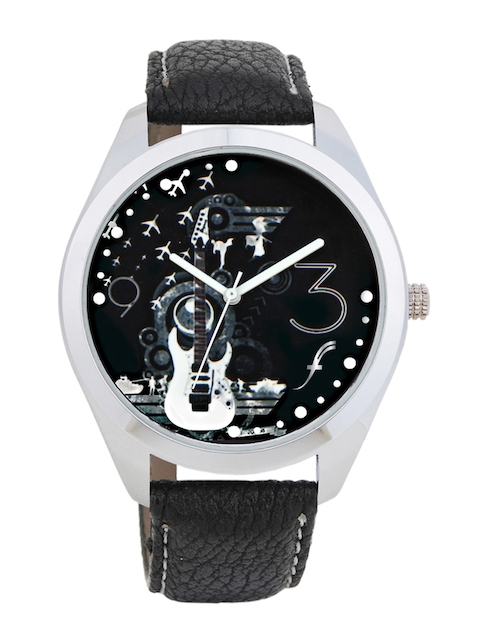 Fosters Unisex Black Printed Dial Watch