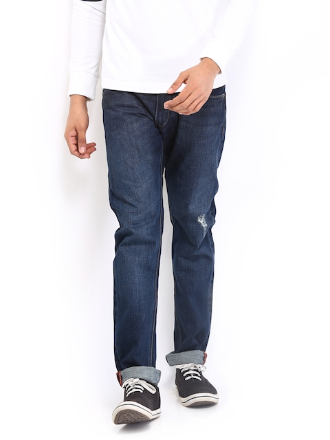 French Connection Men Dark Blue Skinny Fit Jeans