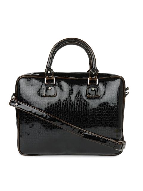 Gauge Machine Women Dark Brown Vegan Leather Laptop Bag