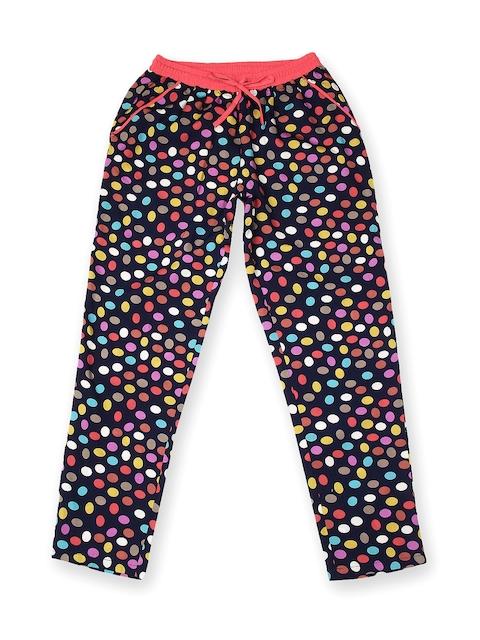 Gini & Jony Girls Multicoloured Polka Dot Printed Trousers