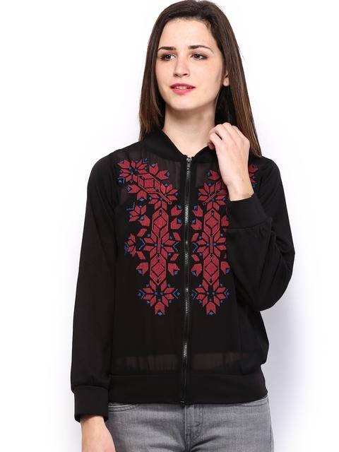 Global Desi Women Black Jacket