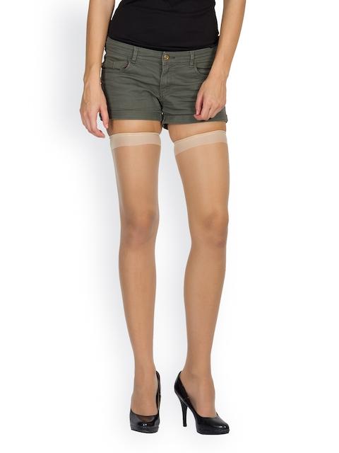 Golden Girl Beige Thigh-High Stockings