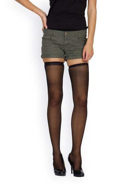 Golden Girl Black Thigh-High Stockings