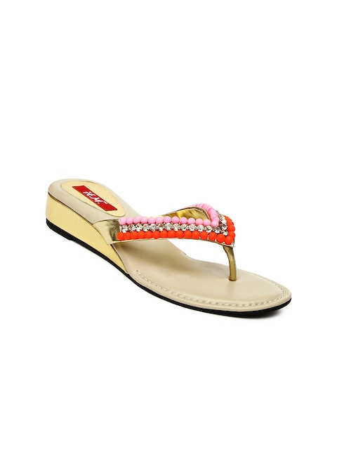 HM Women Pink & Orange Heels  available at myntra for Rs.1169