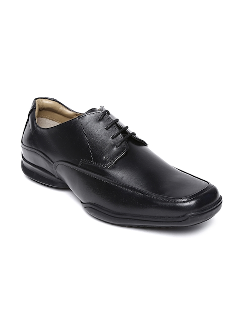Hush Puppies Men Black Leather Formal Shoes