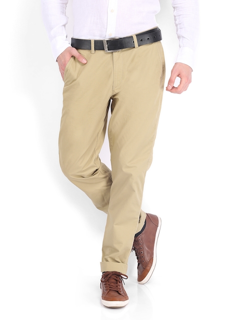 IZOD Men Brown Slim Fit Trousers