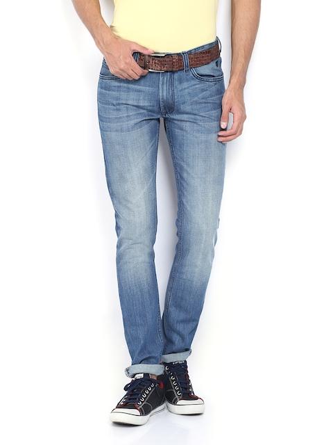 IZOD Men Blue Slim Tapered Fit Jeans