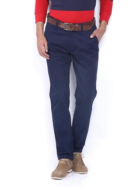 IZOD Men Navy Slim Fit Chino Trousers