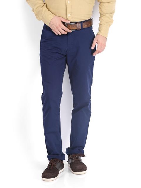IZOD Men Navy Slim Fit Trousers