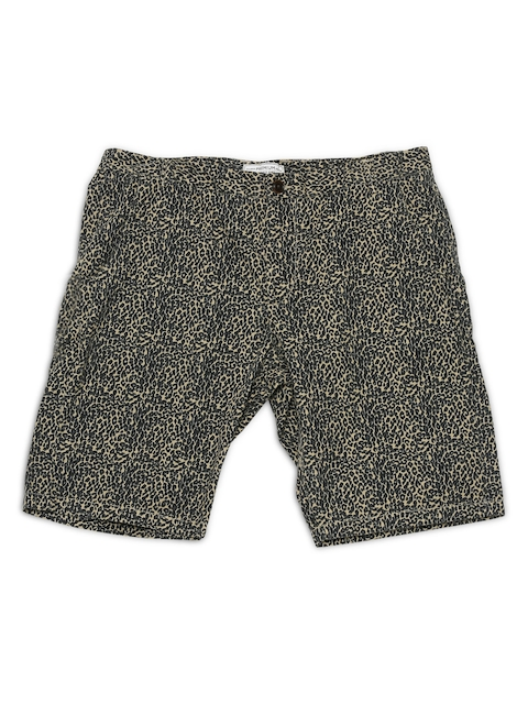 Jack & Jones Men Beige & Grey Printed Shorts  available at myntra for Rs.847