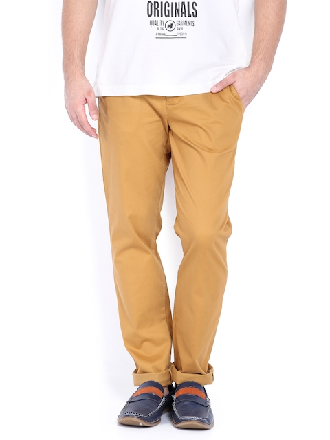 Jack & Jones Men Brown Trousers
