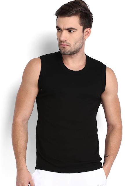 Jockey Men Black Sleeveless T-shirt