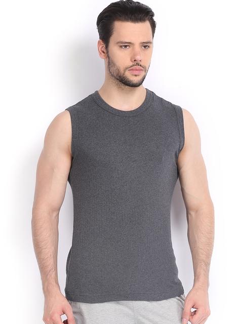 Jockey Men Charcoal Grey Sleeveless T-shirt