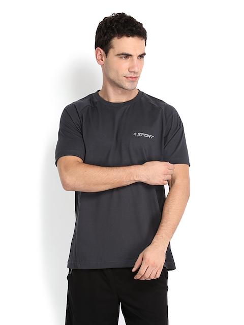Jockey Men Charcoal Grey T-shirt