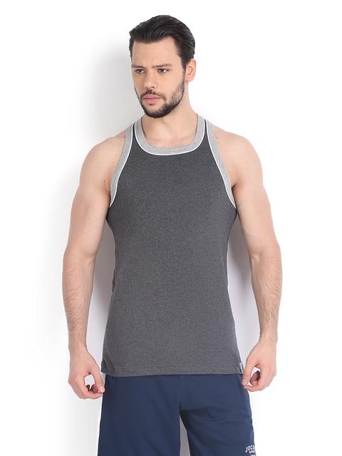 Jockey SPORT Men Grey Sleeveless T-shirt 9925