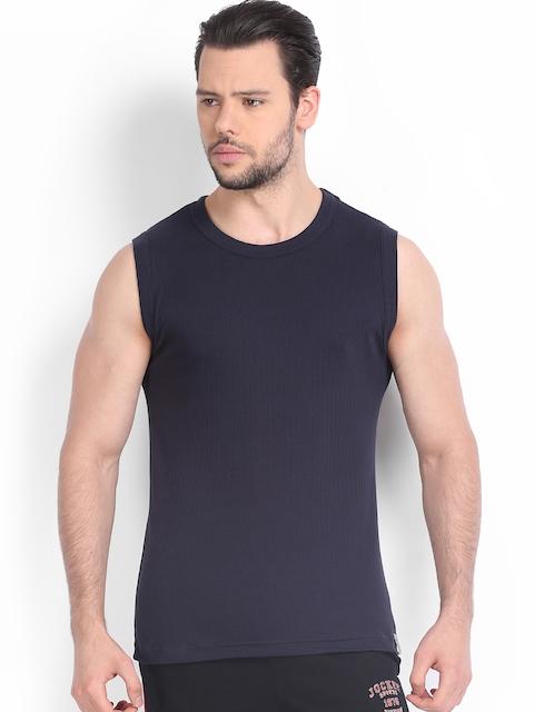 Jockey Men Navy Sleeveless T-shirt