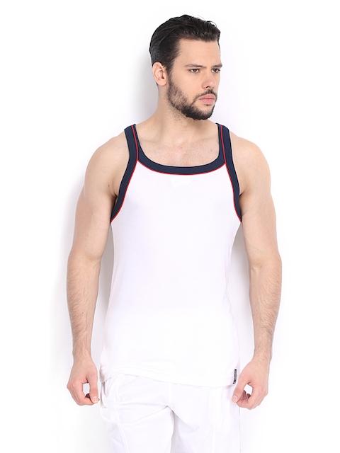 Jockey USA ORIGINALS Men White Sleeveless T-shirt US54  available at myntra for Rs.279