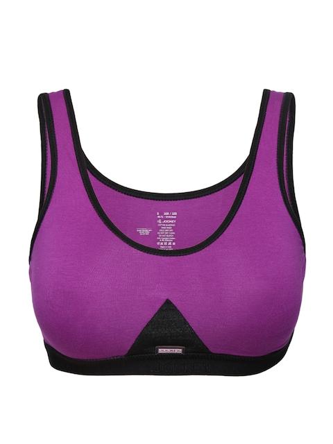 Jockey Purple Slip-On Active Sports Bra 1376-0105