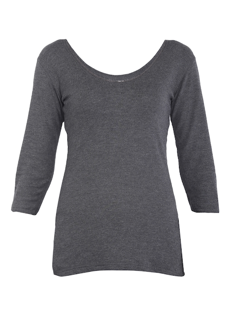 Jockey Women Charcoal Grey Thremal Top 2503