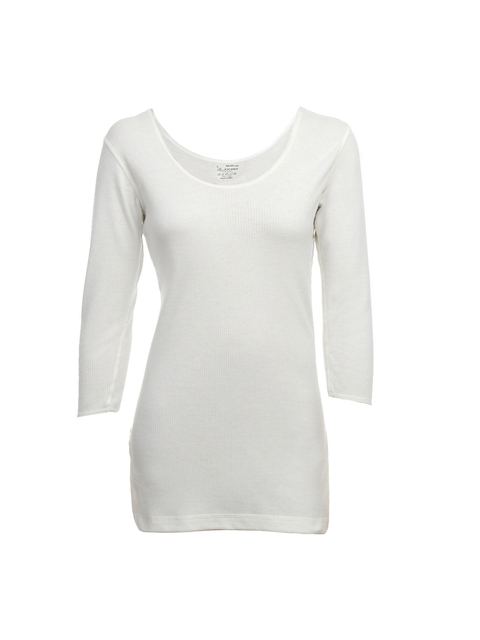 Jockey Women Cream Thermal Top