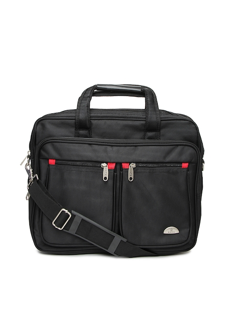 Kara Unisex Black Laptop Bag