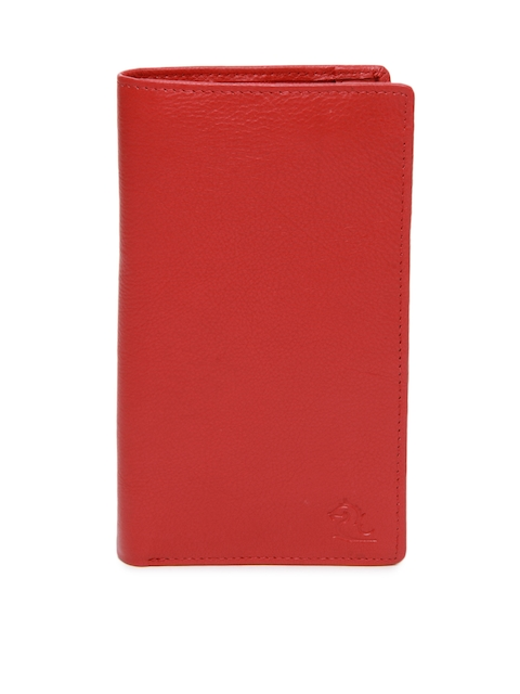 Kara Women Red Leather Wallet