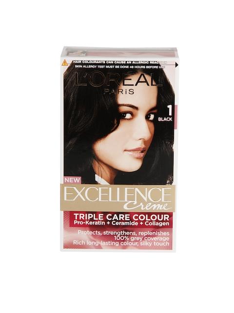 L'Oreal Paris Excellence Crème Hair Color- Black 01, 72ml + 100gm
