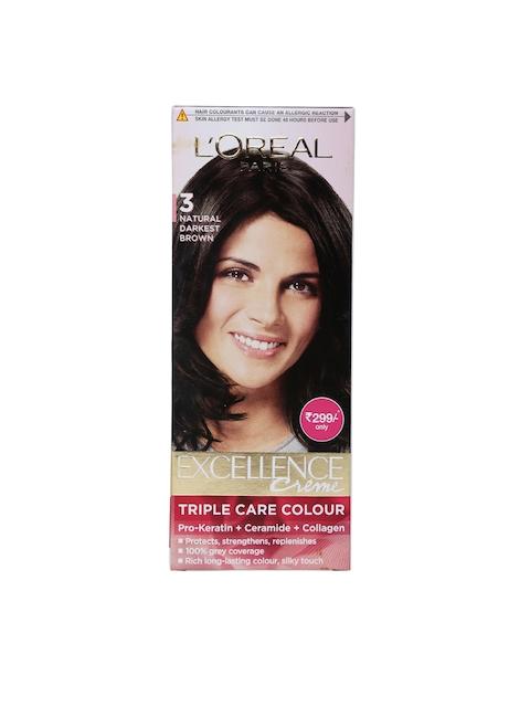 LOreal Paris Excellence Creme Triple Care Hair Colour Natural Darkest Brown 3