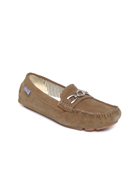 La Briza Women Brown Suede Loafers