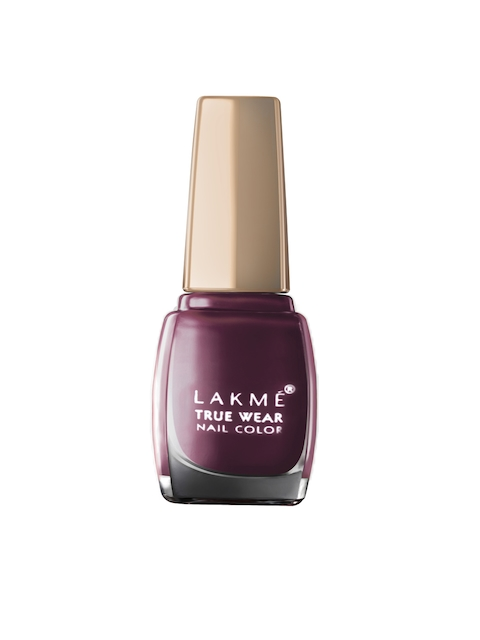 Lakme True Wear Classics Deep Blush Maroon Nail Polish 403