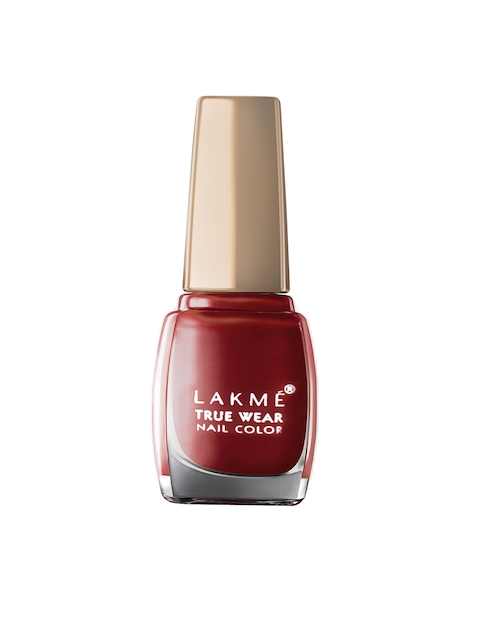 Lakme True Wear Classics Siren Red Nail Polish 404