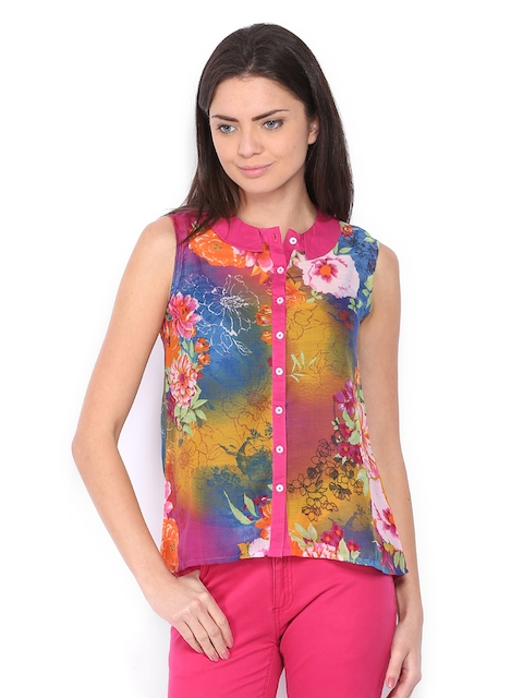 Lee Cooper Women Multi-Coloured Floral Print Shirt