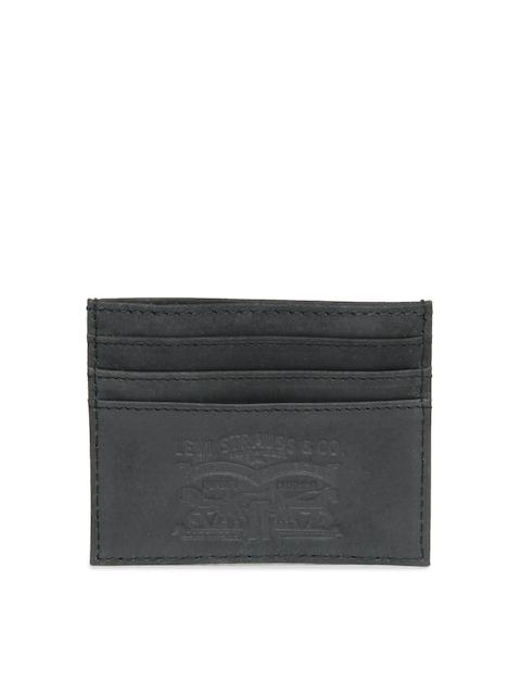 Levis Men Black Leather Card Holder