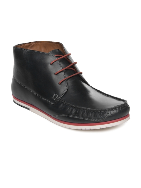 Louis Philippe Men Navy Leather Casual Shoes