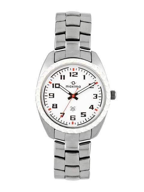 Maxima Attivo Men White Dial Watch