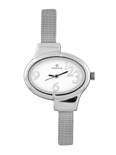 Maxima Attivo Women White Dial Watch