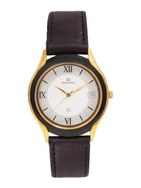 Maxima Men Cream Dial Watch